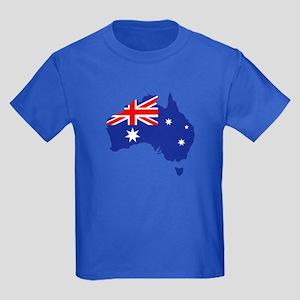 Australia map flag Kids Dark T-Shirt