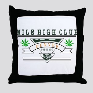 Denver Colorado Marijuana Throw Pillow