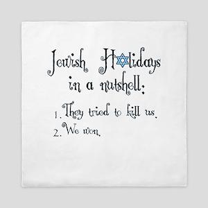 Jewish Holidays Queen Duvet