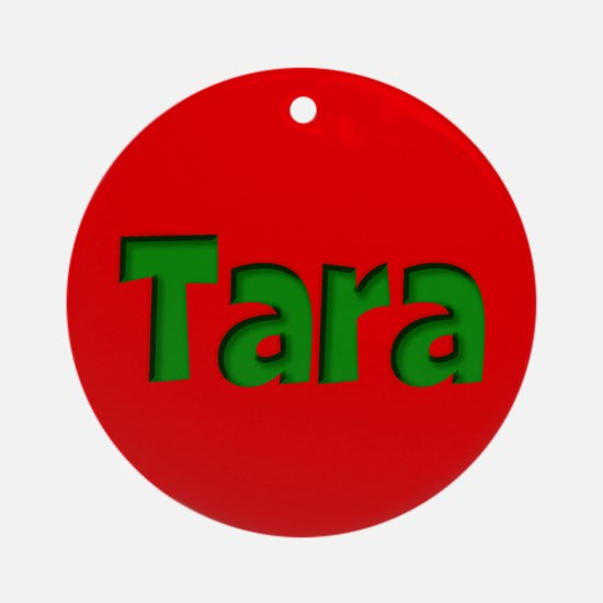 Tara Red and Green Ornament (Round)