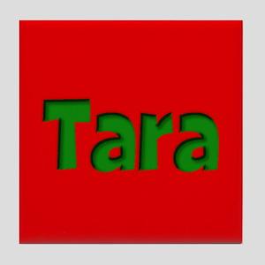 Tara Red and Green Tile Coaster