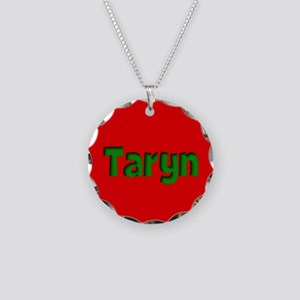 Taryn Red and Green Necklace Circle Charm