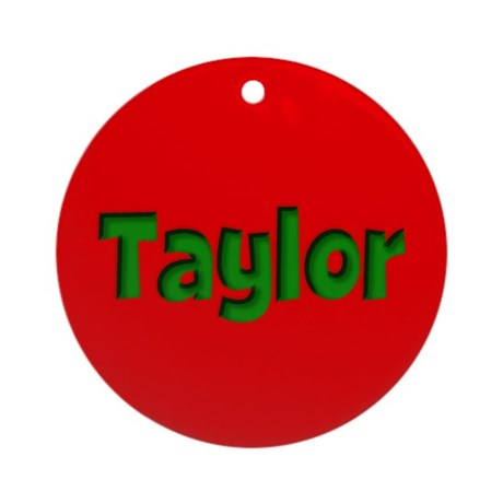 Taylor Red and Green Ornament (Round)