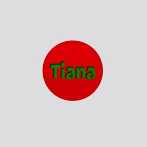 Tiana Red and Green Mini Button