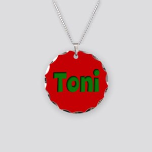 Toni Red and Green Necklace Circle Charm