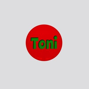 Toni Red and Green Mini Button
