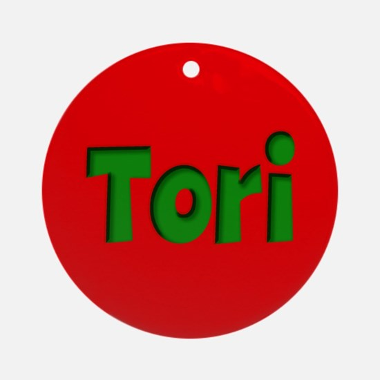Tori Red and Green Ornament (Round)