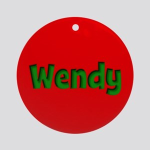 Wendy Red and Green Ornament (Round)