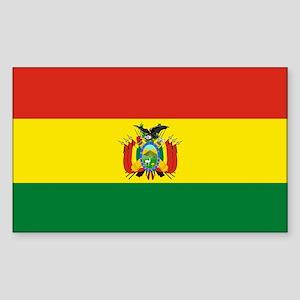 Flag of Bolivia Sticker (Rectangle)
