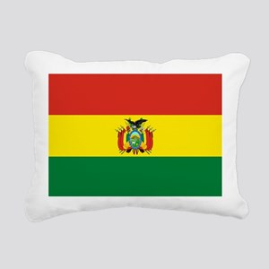 Flag of Bolivia Rectangular Canvas Pillow