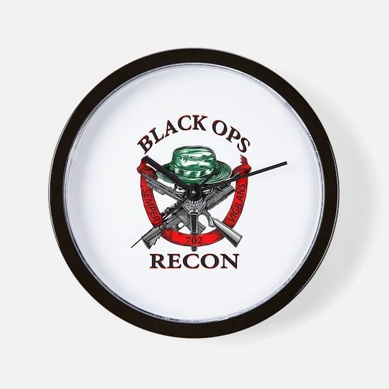 blackops logo Wall Clock