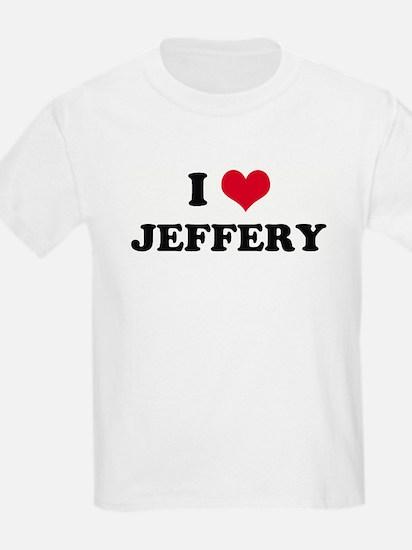 I HEART JEFFERY Kids T-Shirt