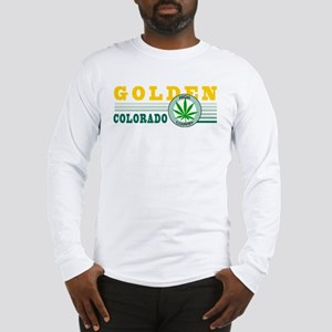 Golden Colorado Marijuana Long Sleeve T-Shirt