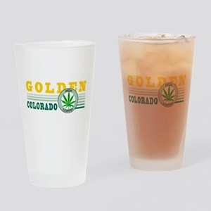 Golden Colorado Marijuana Drinking Glass