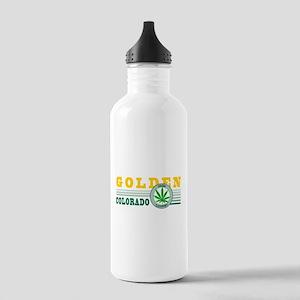 Golden Colorado Marijuana Stainless Water Bottle 1