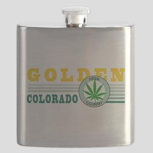 Golden Colorado Marijuana Flask