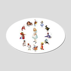All Around Alice In Wonderland 20x12 Oval Wall Dec