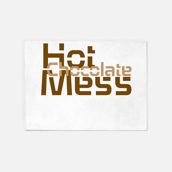 Hot Chocolate Mess 5'x7'Area Rug