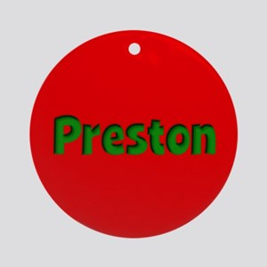 Preston Red and Green Ornament (Round)