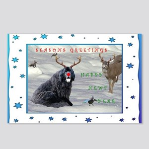 Rudolph Newfy and Wildlife Friends Postcards (Pack