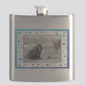 Rudolph Newfy and Wildlife Friends Flask