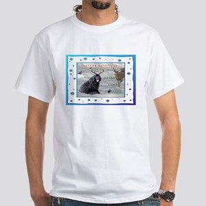 Rudolph Newfy and Wildlife Friends White T-Shirt