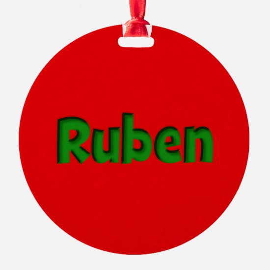 Ruben Red and Green Ornament