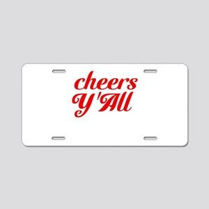 Cheers YAll Aluminum License Plate