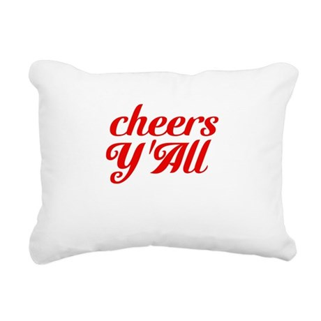 Cheers YAll Rectangular Canvas Pillow