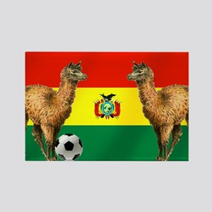 Bolivian Soccer Flag Rectangle Magnet