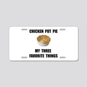 Chicken Pot Pie Aluminum License Plate
