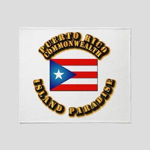 Puerto Rico - Commonwealth Throw Blanket