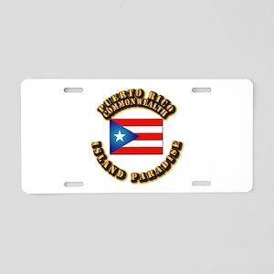 Puerto Rico - Commonwealth Aluminum License Plate