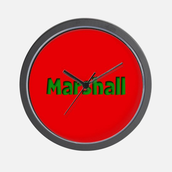 Marshall Red and Green Wall Clock