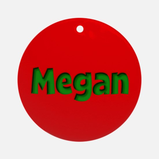 Megan Red and Green Ornament (Round)