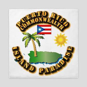 Puerto Rico - Island Paradise Queen Duvet
