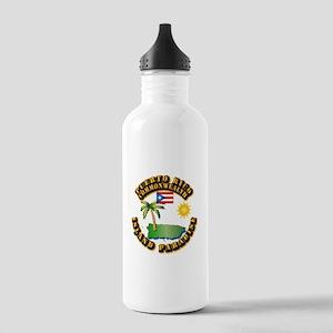 Puerto Rico - Island Paradise Stainless Water Bott