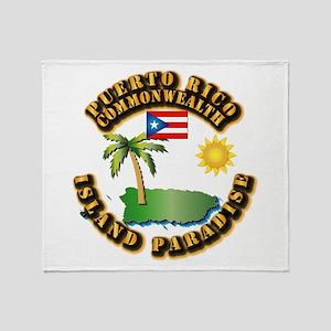 Puerto Rico - Island Paradise Throw Blanket