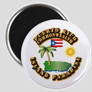 Puerto Rico - Island Paradise Magnet