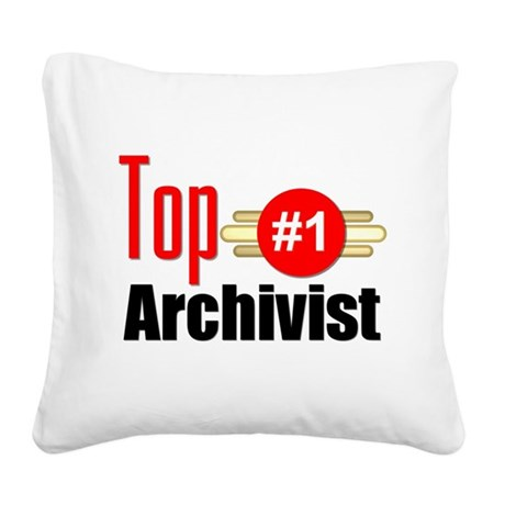 Top Archivist Square Canvas Pillow
