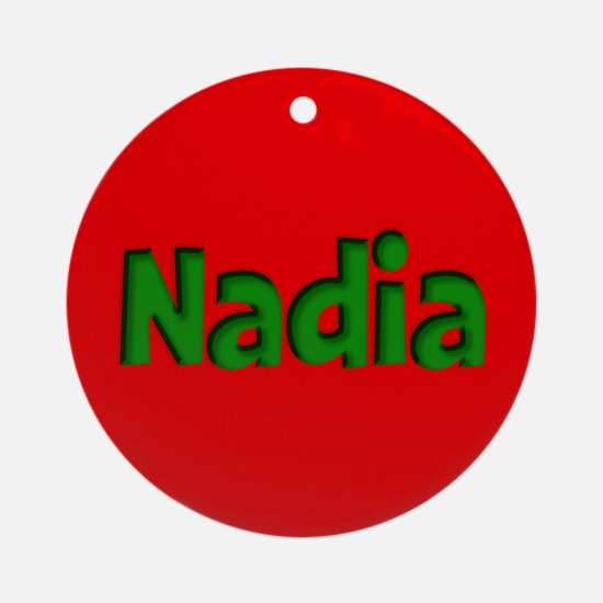 Nadia Red and Green Ornament (Round)