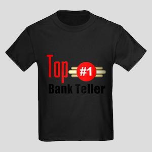 Top Bank Teller Kids Dark T-Shirt