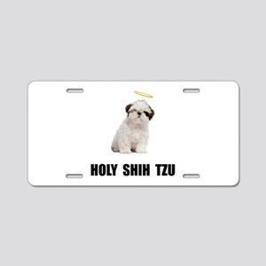 Holy Shih Tzu Aluminum License Plate