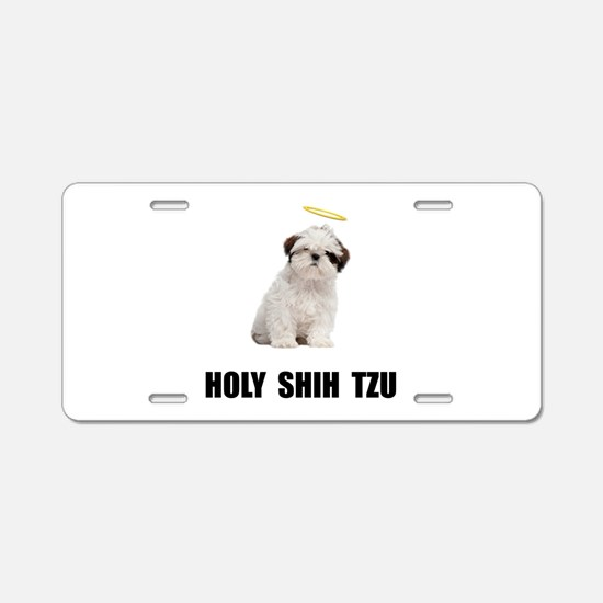 Holy Shih Tzu Aluminum License Plate