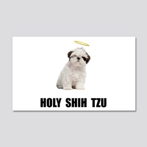 Holy Shih Tzu 20x12 Wall Decal