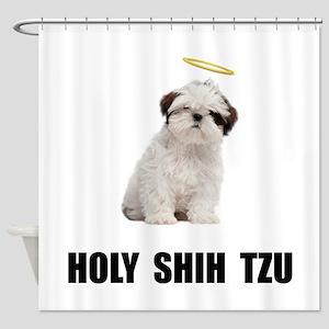 Holy Shih Tzu Shower Curtain
