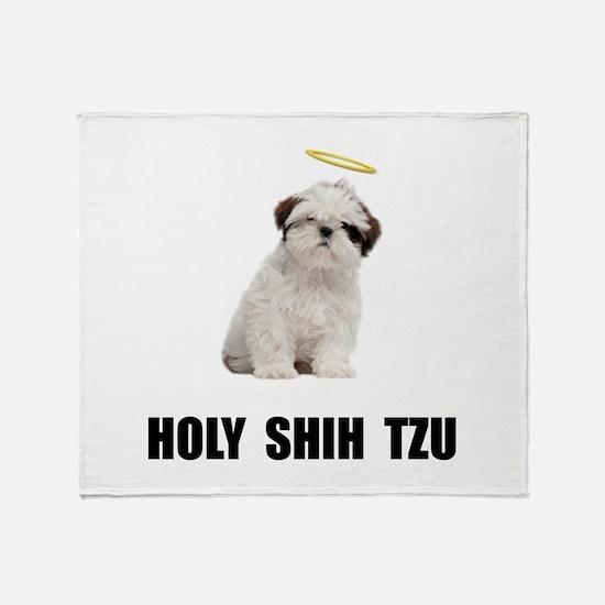 Holy Shih Tzu Throw Blanket