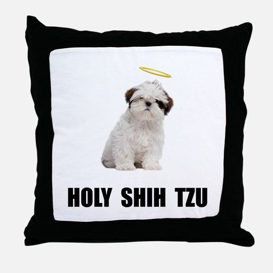 Holy Shih Tzu Throw Pillow
