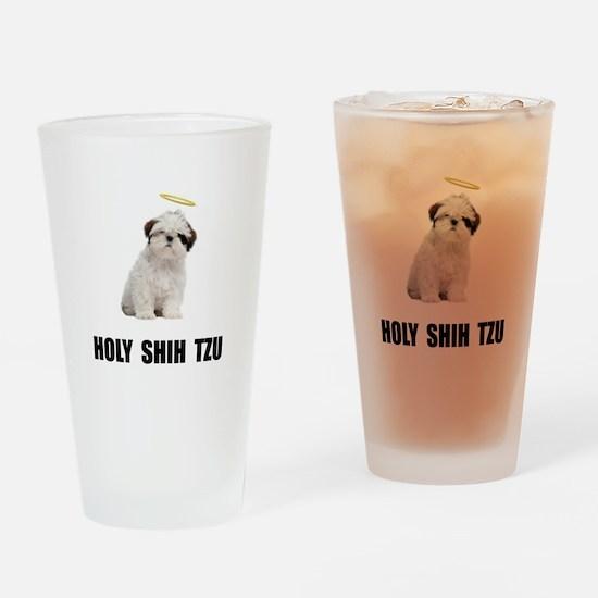 Holy Shih Tzu Drinking Glass