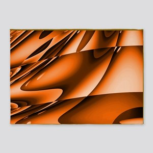 Abstract Burnt Orange 5'x7'Area Rug